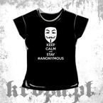 Bluzka damska KEEP CALM AND STAY ANONYMOUS